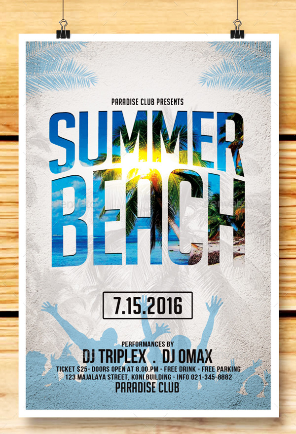 Elegant Summer Beach Flyer