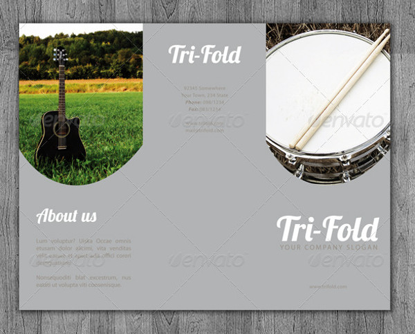 Elegant Tri-Fold Music Brochure
