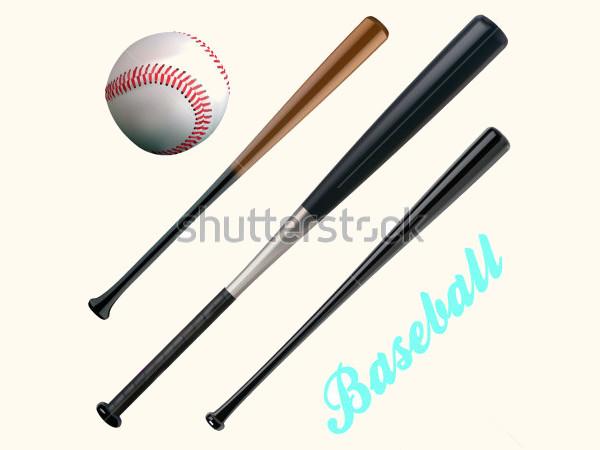 Elegant Vector Baseball Bats