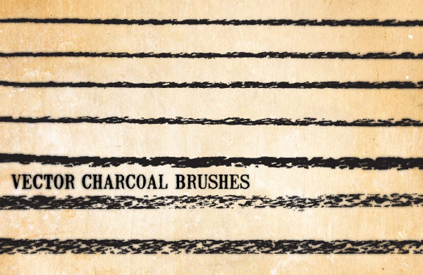 Elegant Vector Charcoal Brushes