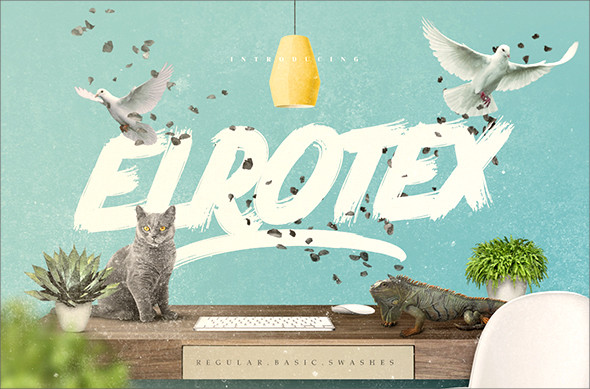 Elrotex Brush Typeface Font