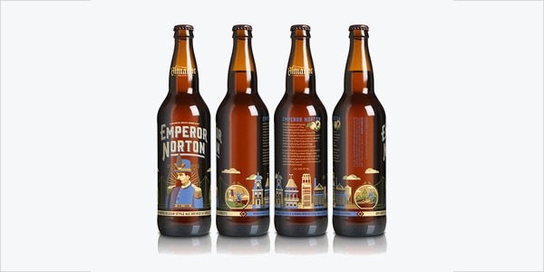 Emperor Norton Beer Bottle Vector