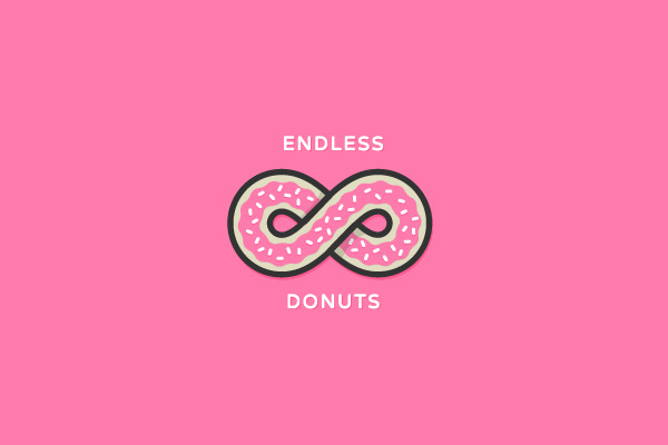endless donuts sprinkle infinite logo