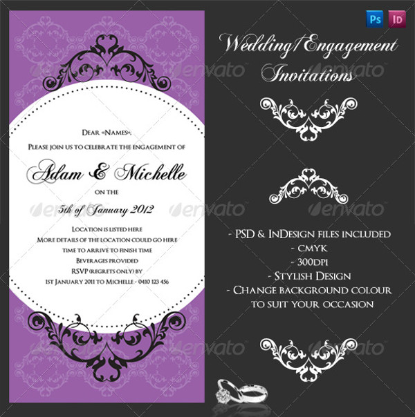 21 Engagement Invitations PSD Vector EPS JPG Download