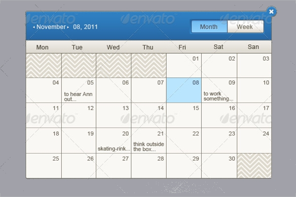 Event Calendar Design  Psd Vector Eps Jpg Download
