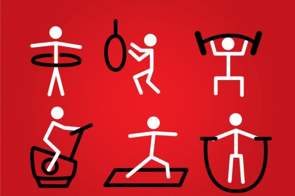 Exercise Stickman Yoga Vector