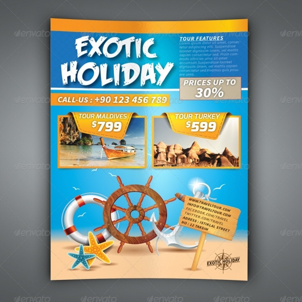 Exotic Holiday Celebration Flyer