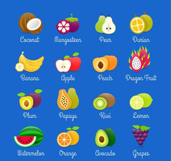 Exquisite Fruit Icon Vector