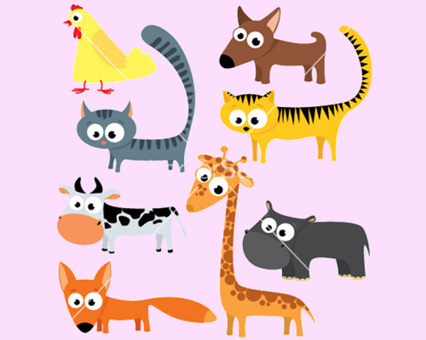 Extraordinary Domestic Animals Vector
