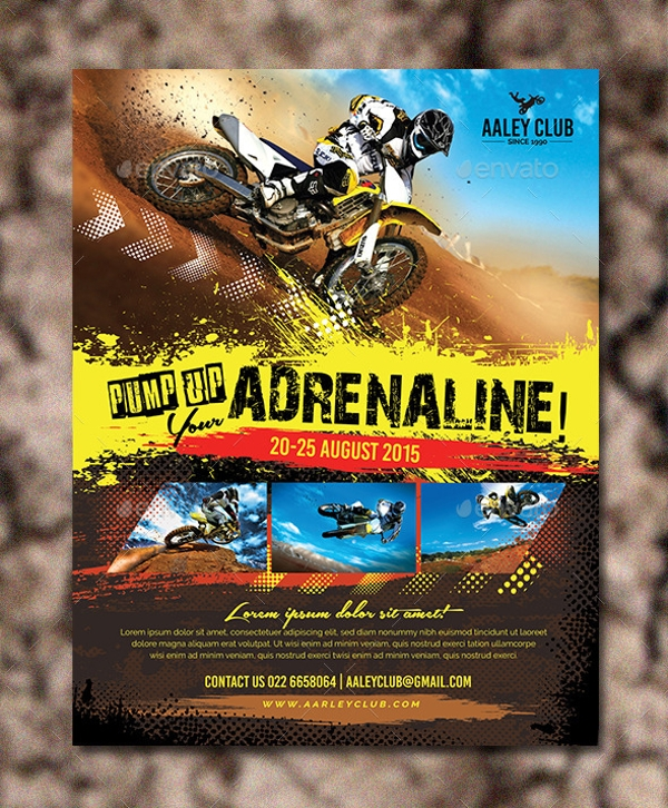 Extreme Sports Magazine Ad Design