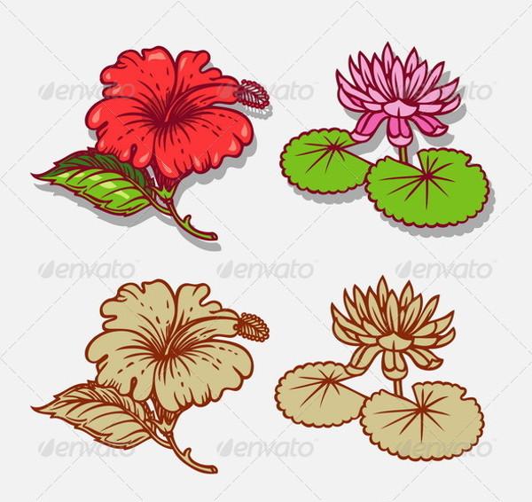 Fabulous Cartoon Flower Illustration