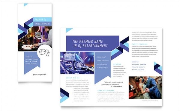 Fabulous DJ Brochure Template