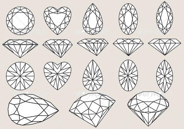 Fabulous Diamond Vectors Set