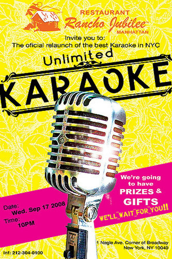 Fabulous Karaoke Flyer Design