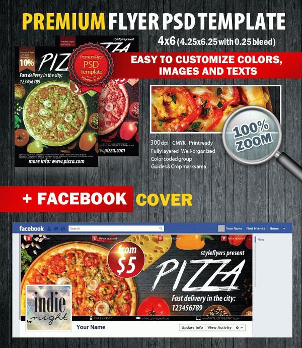Fabulous Pizza Flyer Template