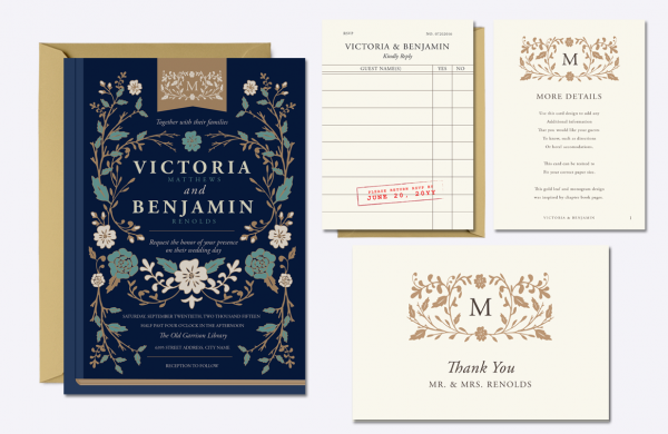 Fancy Stationery Engagement Invitation