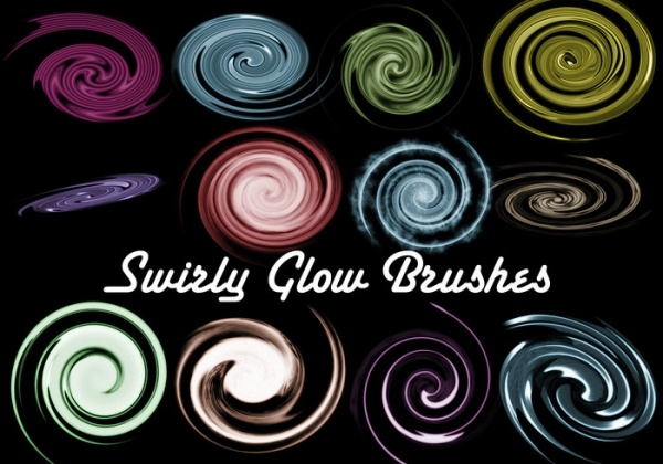 Fantasy Swirly Glow Brushes