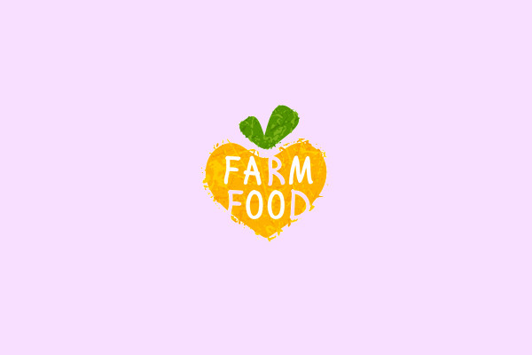 Farm Food Watercolor logo