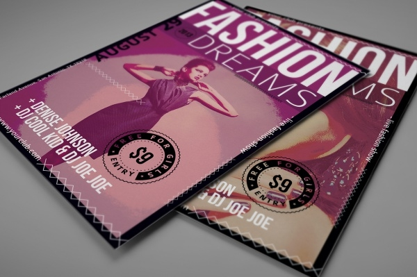 Fashion Show Invitation Flyer