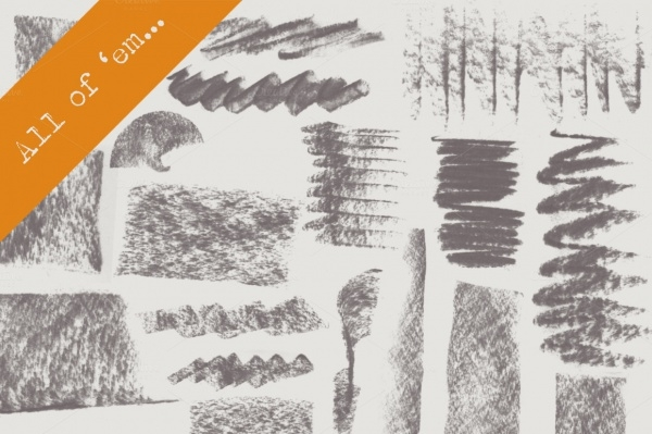 Fat Charcoal Brushes Photoshop