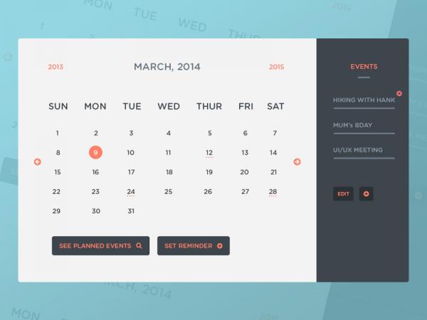 Festival Event Calendar Design