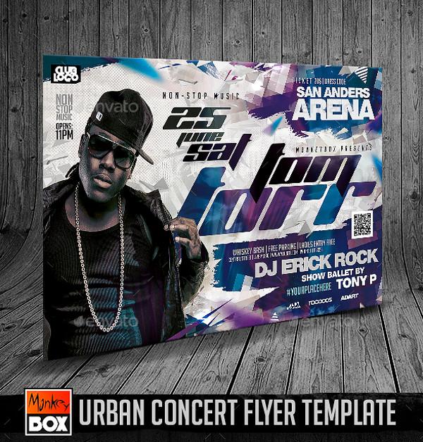 festival urban concert flyer