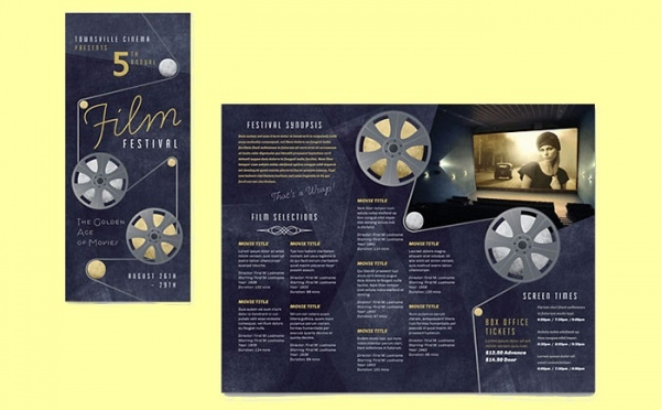 film festival musical brochure template