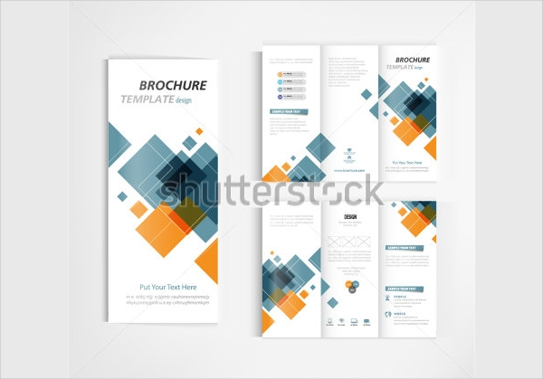 Financial Brochure Template Design Vector