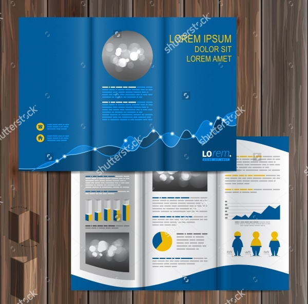 Financial Brochure Template Design