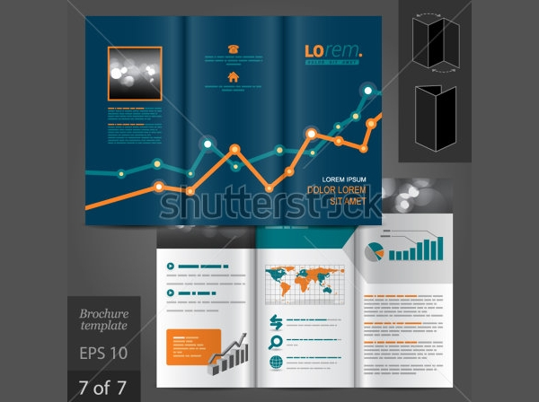 Financial Vector Brochure Template Design