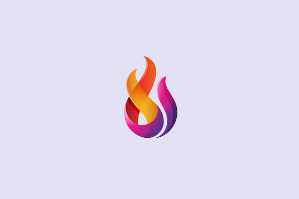 Fire Abstract Logo Design