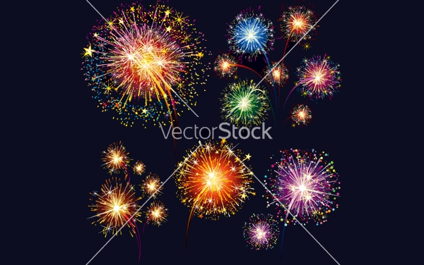 Fireworks Celebration Set vector
