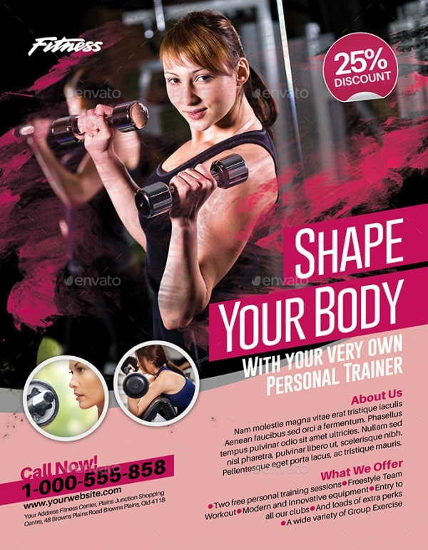 Wonderful Colorful Modern Fitness Flyer