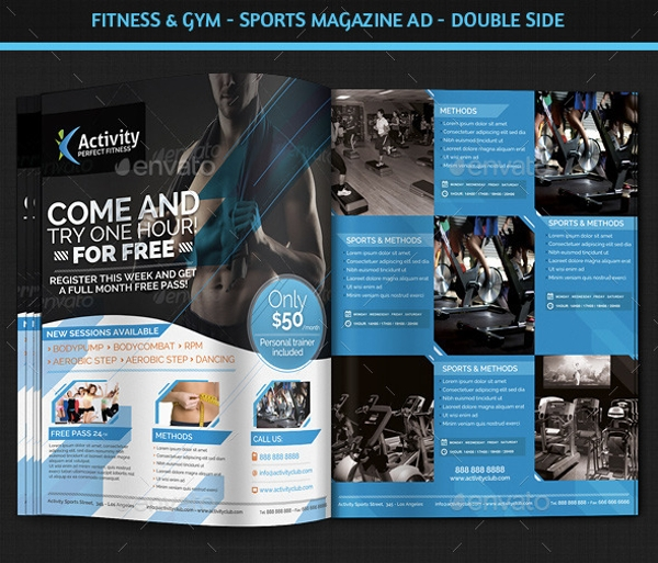 Fitness & Gym – Sports Magazine Ad