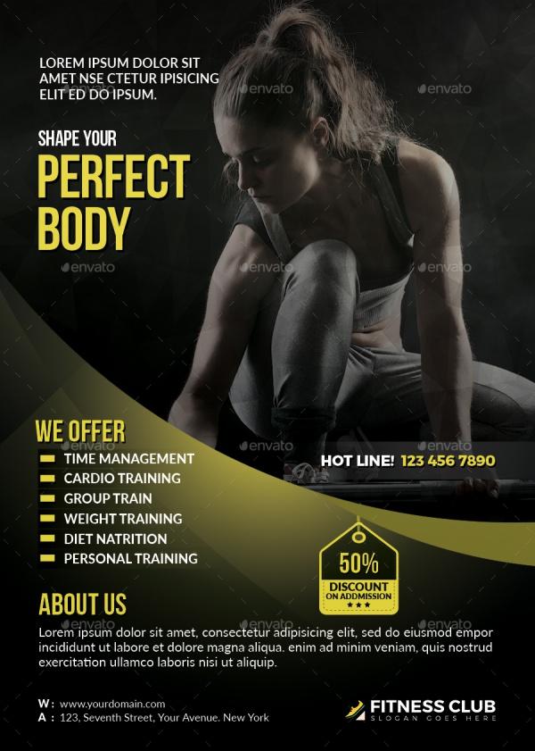 Fitness Photoshop PSD Flyer