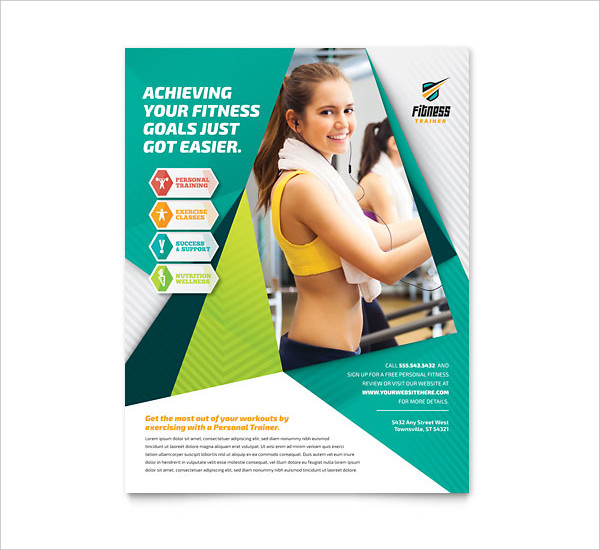 Nice Fitness Trainer Flyer Template  Free Fitness Flyer Templates