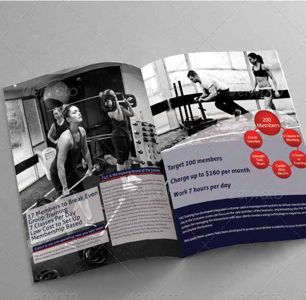 21 training brochure templates psd vector eps jpg for Gym brochure template