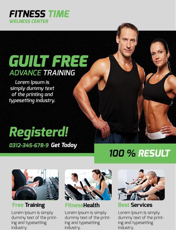 Fitness Wellness Center Flyer