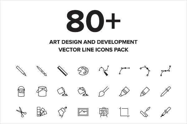 Flat Art Icon Bundle