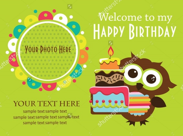 Flat Design Kids Birthday Invitations