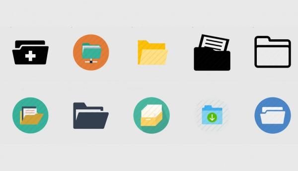 Flat Rounded Folder Icons