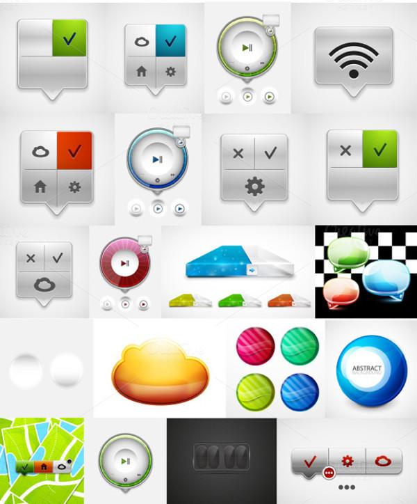 flat ui psd buttons