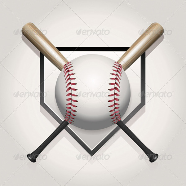 Flat Vector of Baseball Bats