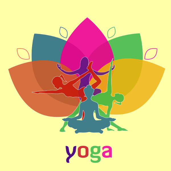 Floral Design Yoga Vector