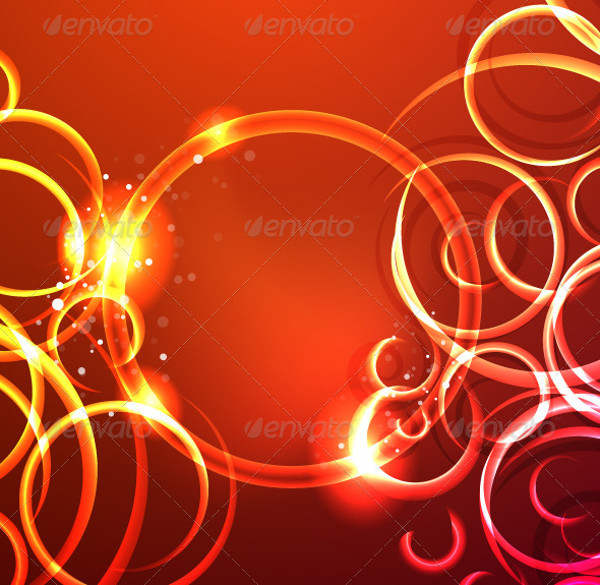 Floral Glowing Swirl Vector