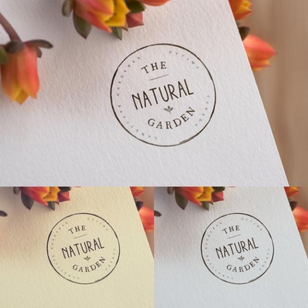 Floral Logo Presentation Mockup