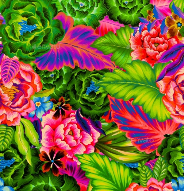 Floral Mexican Pattern