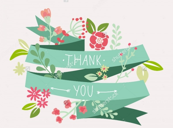 Floral Thank You Card Design
