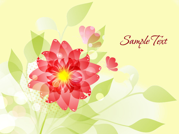 Flower Illustration Vector Background