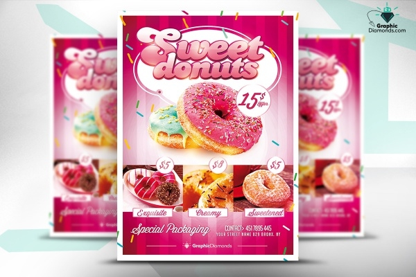 Flyer for Cake Donut Bakery